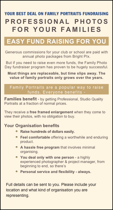 YOUR BEST DEAL ON FAMILY PORTRAITS FUNDRAISING
