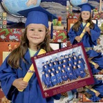 Preschool graduations mortar and gown supplied